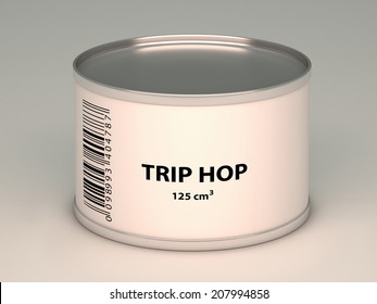 illustration of   bank with trip hop title