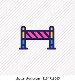 illustration of barrier icon colored line. Beautiful industry element also can be used as roadblock icon element.