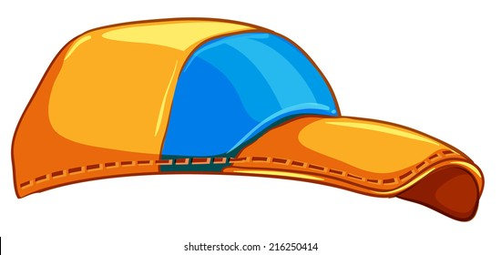 Illustration of a baseball cap on a white background