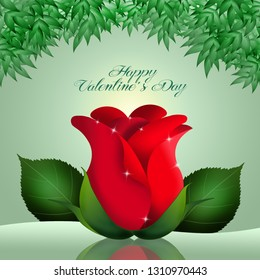 an illustration of beautiful red rose for Valentine Day