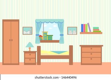 illustration of bedroom