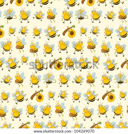 illustration bee wallpaper eps vector format stock illustration