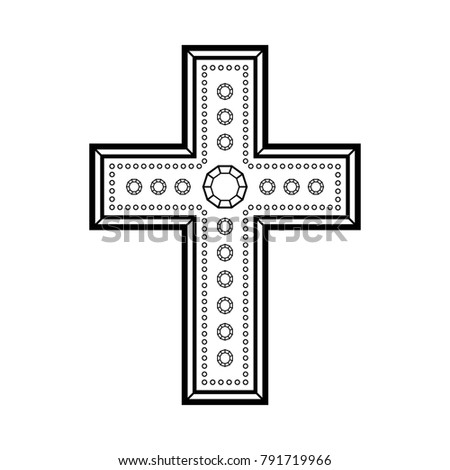 Illustration Black Cross Symbol Christianity On Stock Illustration