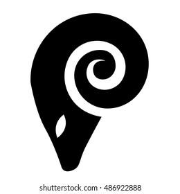 Illustration of Black Ram Icon isolated on a white background