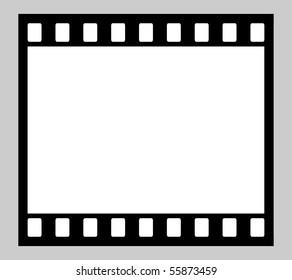 Illustration of blank 35mm film strip with copy space.