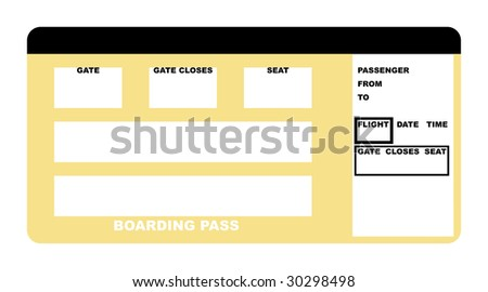 illustration blank airline boarding pass ticket stock illustration