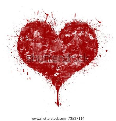 Illustration Of A Blood Splatter Heart