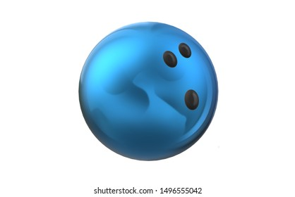 Illustration of a blue bowling ball