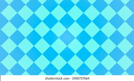 Illustration of blue and green repetitive tile pattern