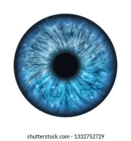 An illustration of a blue human iris
