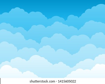 illustration of blue sky background with clouds