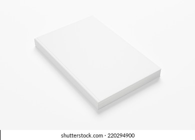 illustration of book or magazine mock up on white background with soft shadows
