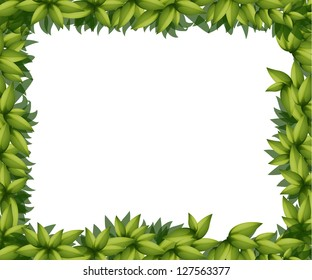 Illustration of a border made out of leaves