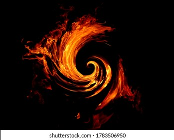 Illustration Bright background of a fiery flame of fire