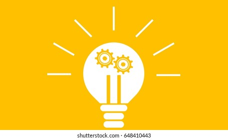 Illustration of bright bulb for a great ideation and creative thinking concept.