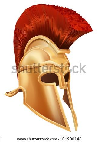 631042f4675 Illustration Bronze Trojan Helmet Spartan Helmet Stock Illustration ...