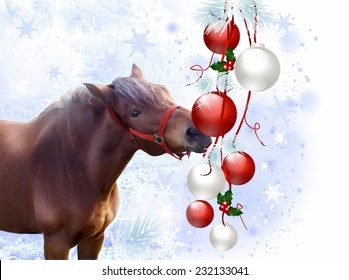 Christmas Horse Cartoon.Christmas Horse Images Stock Photos Vectors Shutterstock