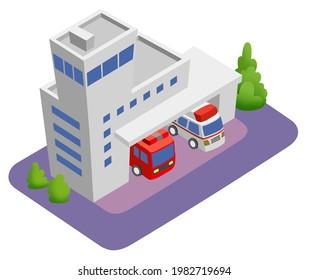 スマートシティを構成する建物のイラスト