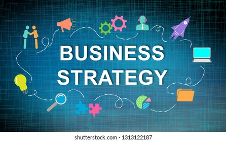Illustration of a business strategy concept