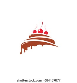 Illustration of cake with cherries.