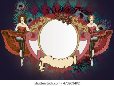illustration of a cancan dancer