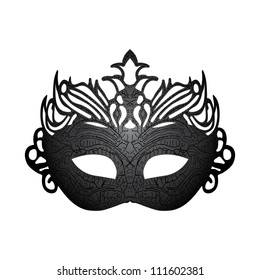 Illustration carnival mask isolated on white background. Raster version
