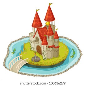 Illustration of a cartoon castle - EPS VECTOR format also available in my portfolio.