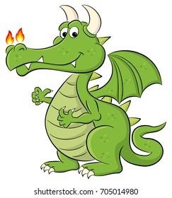 illustration of a cartoon dragon