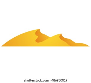 Illustration of Cartoon Dunes isolated on a white background