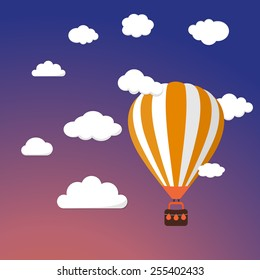Seamless Vector Cartoon Pattern Hot Air Stock Vector (Royalty Free ...