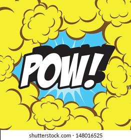 illustration of cartoon word Pow!