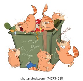 Garbage Bank Rats Cartoon Stock-Vektorgrafik (Lizenzfrei) 80331220 ...