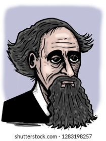 Illustration of Charles Dickens.