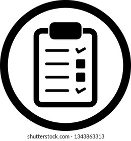Illustration Checklist Icon