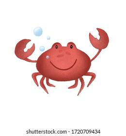 Illustration for children. Cute crab.