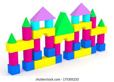 illustration children's toys cubes