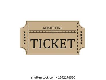 Illustration of cinema ticket on white background