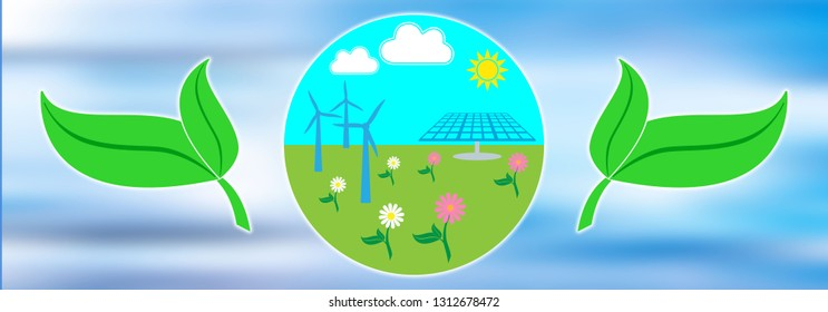 Illustration of a clean energy concept