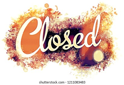 Illustration of a closed sign