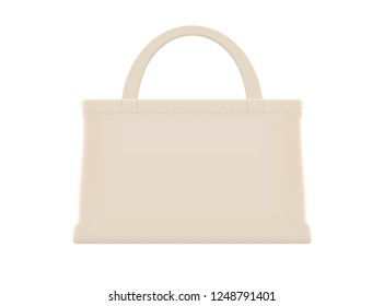 illustration cloth bags blank or cotton yarn cloth bags, fabric cloth bag brown empty template for design graphic in campaign to use bags to reduce waste using plastic bags