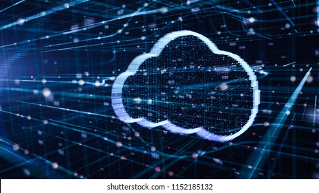 illustration of cloud technology Futuristic computer digital Abstract  background