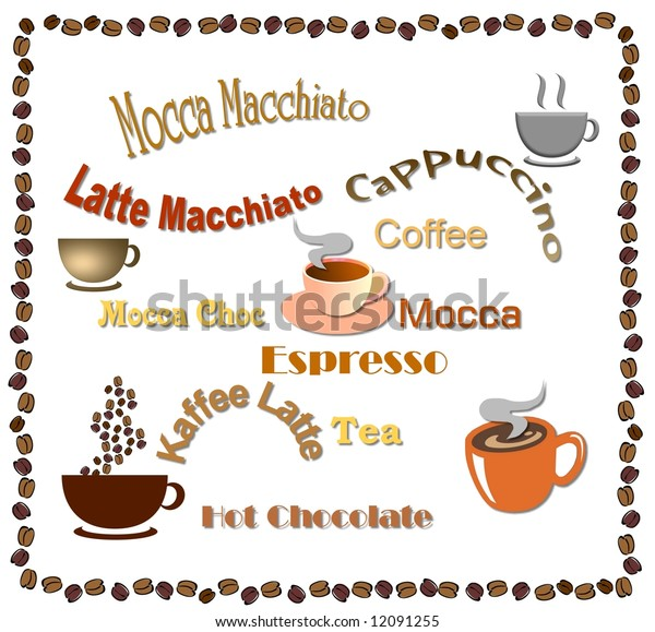 illustration of a coffee card