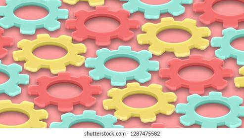 illustration cogs gear motion background. Technology mechanism