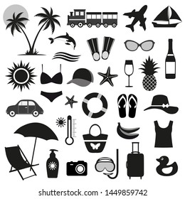 illustration of The collection of element for summer set.