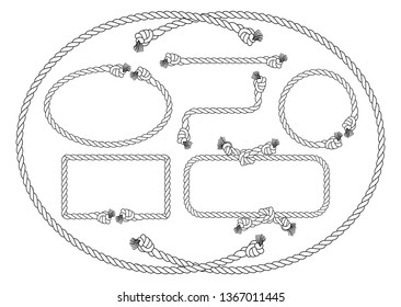 illustration of a collection of several rope frames