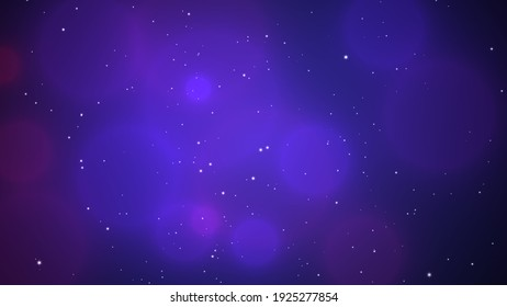Illustration Of Colorful Circles Bokeh and stars Background