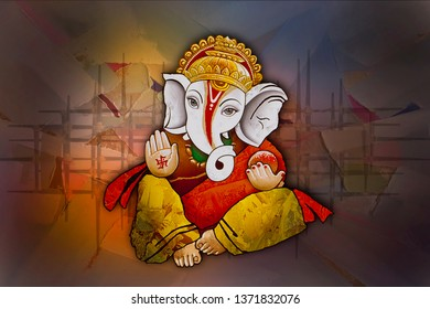 Ganesha Wallpaper Images Stock Photos Vectors Shutterstock