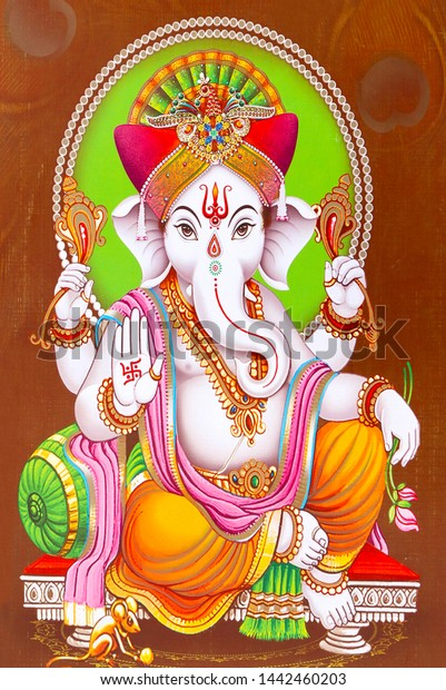 illustration colorful hindu lord ganesha 600w 1442460203