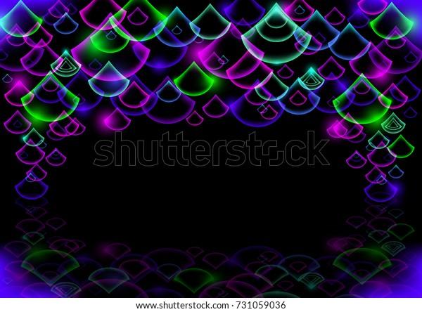Ilustración De Stock Sobre Illustration Colorful Neon Drops