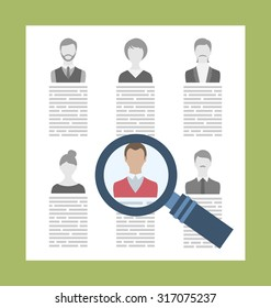 Illustration Concept Recruitment Specialists, Management Human Resource - raster